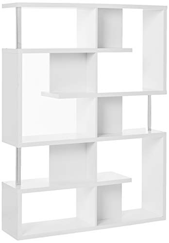Coaster Home Furnishings 5-Tier Bookcase White and Chro...