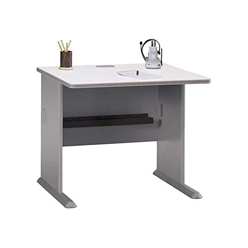 Bush Business Furniture Series A 36W Desk in Pewter and...