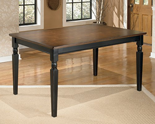 ivgStores Furniture Owingsville Collection Cottage Style Two Tone Finish Rectangular Dining Table