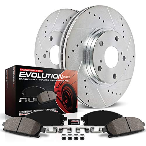 Power Stop K2009 Front Brake Kit with Drilled/Slotted B...