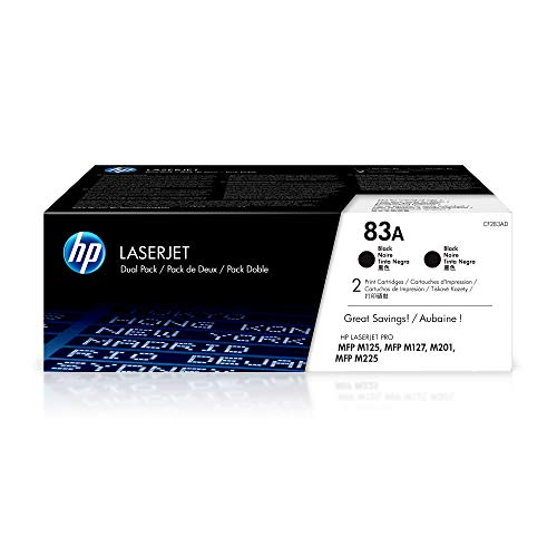 HP 83A CF283AD 2 Toner Cartridges Works with  LaserJet ...