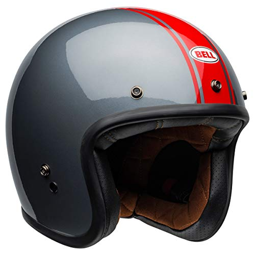 Bell  Custom 500 Open-Face Motorcycle Helmet (Rally Gloss Gray/Red, X-Small)