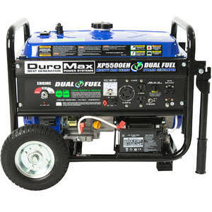 DuroMax XP5500EH Gas/Propane Powered Dual Fuel Portable...