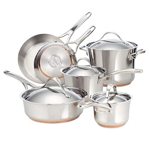 Anolon Nouvelle Stainless Steel Cookware Pots and Pans ...