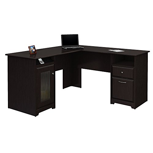 Bush Furniture Cabot L Shaped Computer Desk in Espresso...