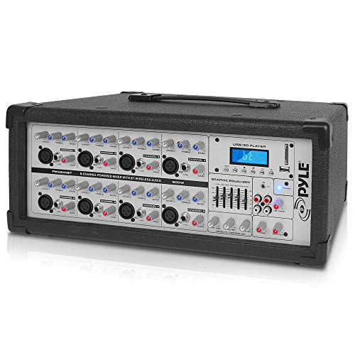 Pyle 8-Ch. Bluetooth Stage Powered Mixer - 800W Pro Aud...