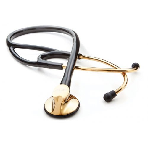 ADC 600GP Gold Plated Stethoscope , Black BK