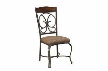 Ashley Furniture Glambrey Brown Dining UPH Side Chair (...