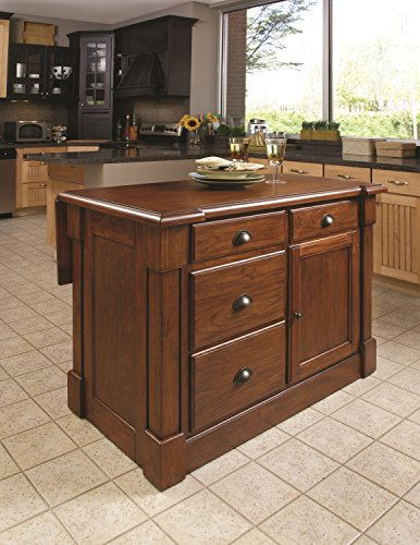Home Styles Aspen Rustic Cherry Kitchen Island by