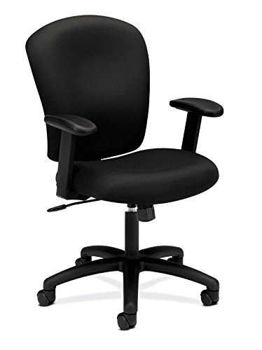 HON HVL220.VA10 Mid Back Task Chair - Fabric Computer C...