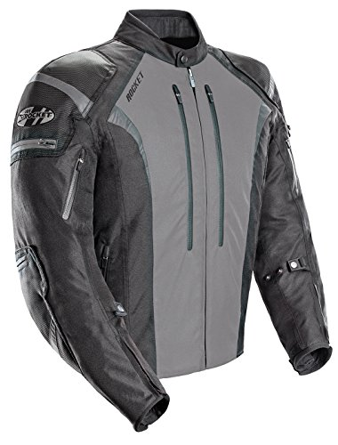 Joe Rocket Atomic 5.0 Mens Black/Grey Textile Jacket - ...